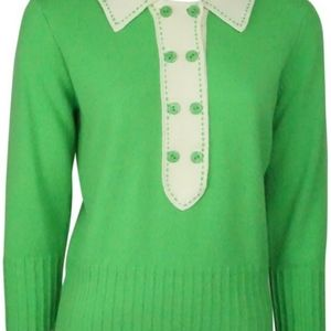 Milly Cashmere Preppy Sweater Large